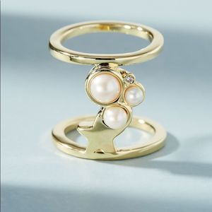 NEW Anthropologie Pearl Galaxies Ring
